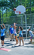 Basketball court at Sanborn Shore Acres