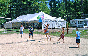 Beach ball volleyball at Sanborn Shore Acres